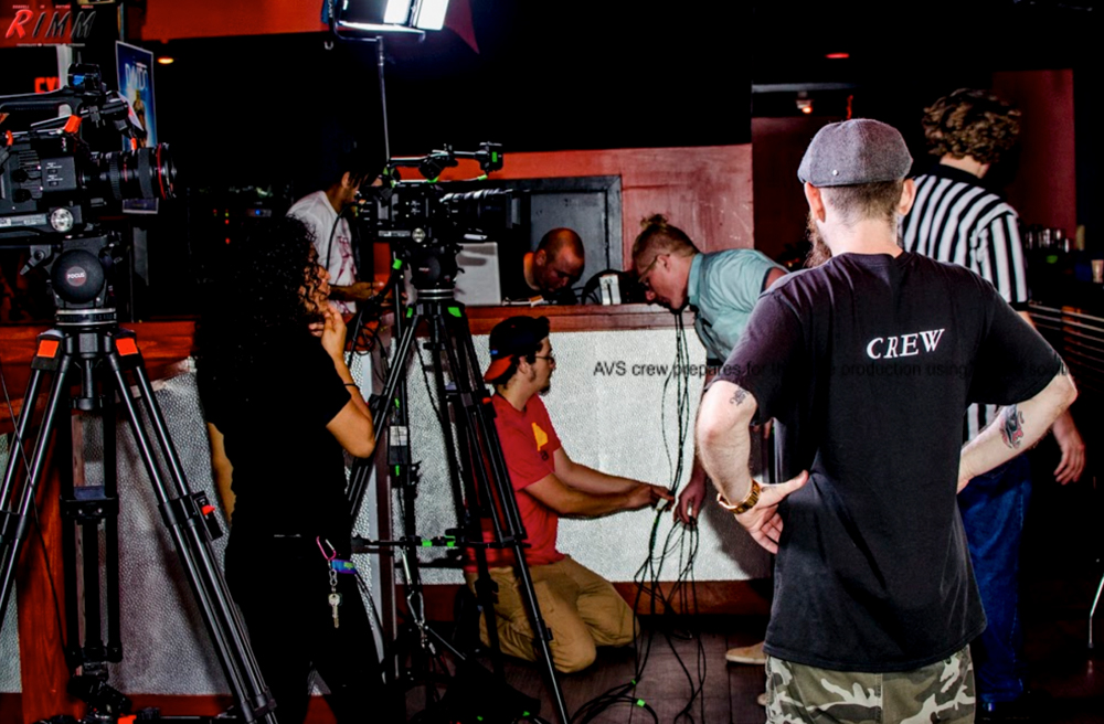 AVS crew prepares for their live production using Dejero solutions