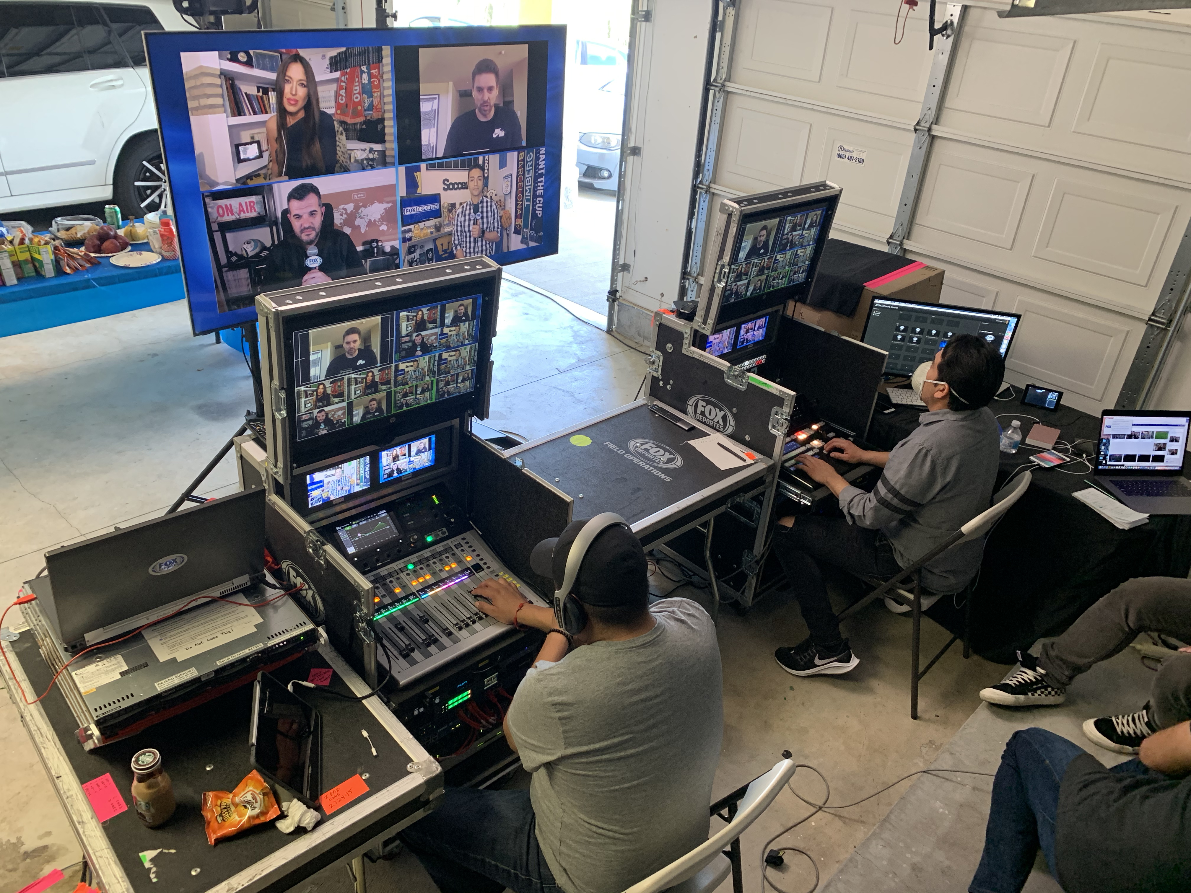 FOX Deportes reassigned its remote production flypacks to continue live sports coverage from its garage-based PCR during the pandemic