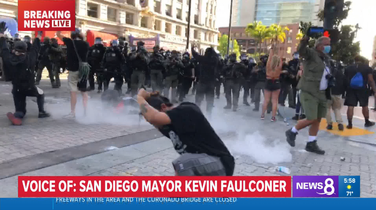 KFMB-TV was able to report from multiple vantage points during the recent Black Lives Matter rallies in San Diego using the DejeroLivePlus mobile app