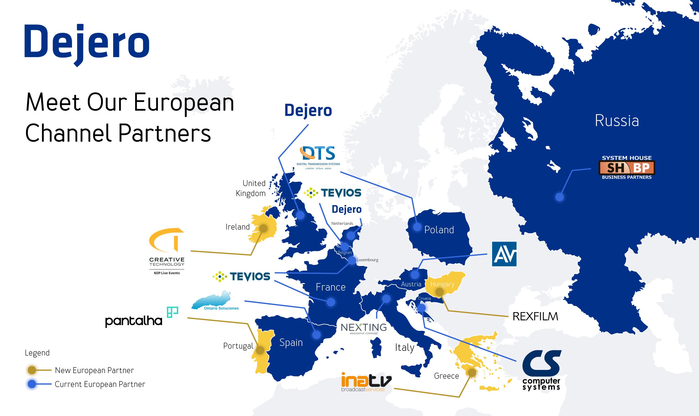 Dejero Announces New European Channel Partnerships