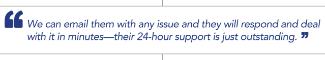"""TRP quote - """"We can email them with any issue and they will respond and deal with it in minutes - Dejero's 24-hour support is just outstanding."""""""
