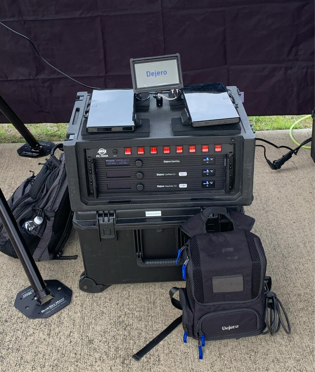 A GateWay M series network aggregation device can be combined with other equipment in a portable flyaway kit to provide resilient connectivity for remote production, disaster recovery, and business continuity. Image courtesy of  Jared Brody.